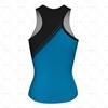 Women's Racerback Singlet V-Neck Collar Back View Design
