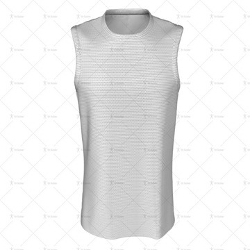 Basketball Singlet Long Insert Collar Front View