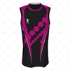 Basketball Singlet Long Elite Collar Front View Design