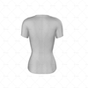 Compression Top Womens Short Sleeve Back