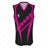 Basketball Singlet Long Laker Collar Front View Design