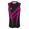 Basketball Singlet Long Pro Collar Front View Design