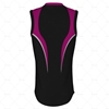 Basketball Singlet Long Pro Collar Back View Design