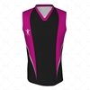 Basketball Singlet Short Collar Front View Design