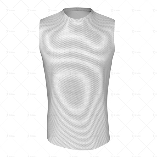 Basketball Singlet Short Round Collar Front View
