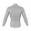 Mens Cycling Jersey LS Smooth Neck Back View