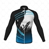 Mens Cycling Jersey LS Smooth Neck Front View Design