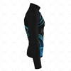 Mens Cycling Jersey LS Smooth Neck Side View Design