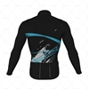 Mens Cycling Jersey LS Smooth Neck Back View Design