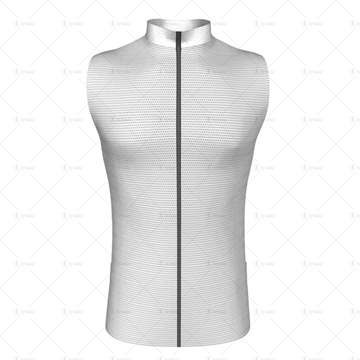 Mens Wind Vest with Back Pockets Front View