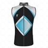 Mens Wind Vest with Back Pockets Front View Design