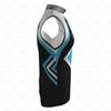 Mens Wind Vest with Back Pockets Side View Design
